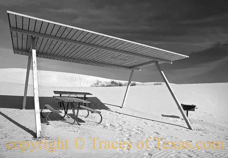 Title:   Boy, Bring those Hamburgers over Here and Throw them on the Grill<br /> <br /> Comments: Nice picnic setup, eh?<br /> <br /> Location: Monahans State Park