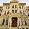 Title:   Milam County Courthouse 1<br /> <br /> Comments:  I think I will start a courthouse rating system, going from 1 to 10, 10 being the best.   The Milam County Courthouse would at least be a 9, I think.<br /> <br /> Location: Cameron