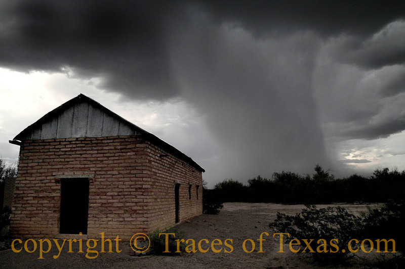 Title:   Desert Storm <br /> <br /> Comments: 30 seconds before the monsoon hit. This storm was roaring like a freight train. <br /> <br /> Location:  Castolon, Texas