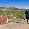 """Title:   Oh, to Be out on the """"Links"""" in Terlingua!<br /> <br /> Comments: Golfing at the Terlingua Country Club involves many risks that you don't normally see on a typical links course in some woosie place like Scotland.. Like javelinas and losing your ball 17 times among cacti and other thorny creatures ..... on the first hole alone.  Oh, and tarantula spiders and scorpions .... lots of scorpions. The old car hood shown here is actually hole number three. Hit it with your golf ball and it gives a resounding clunk that lets you know you can move on to the next hole. Nobody knows what par is and nobody really cares. It's all about the art.<br /> <br /> Location: Terlingua"""