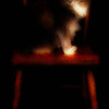 Title:   Chair of Cat Dreams<br /> <br /> Comments:  I dreamed of my cat sitting on an old, red chair ...<br /> <br /> Location: Austin, Texas