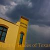 <br>Title: Break a Leg  Comments: Little slice of Shiner under ominous storm clouds.  Location: Shiner