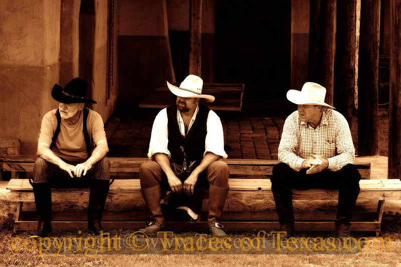 Title:   One Way of Looking at Three Cowboys<br /> <br /> Comments: <br /> <br /> Location: Brackettville