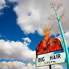 Title:   Big Hair Shop<br /> <br /> Comments: Ironically, the Big Hair Shop does NOT sell big hair, nor does it style hair. Rather, it's an art and woodcraft gallery.<br /> <br /> Location: Marathon