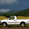 """Title:   I Call My Truck """"Old Blue"""" Even Though It's White<br /> <br /> Comments: Old Blue loves hanging out in the Davis Mountains, especially when it rains. <br /> <br /> Location:  Ft. Davis"""