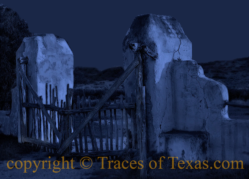 Title:   Ghost Fence<br /> <br /> Comments: Old ranch fence <br /> <br /> Location: Bracketville, Texas