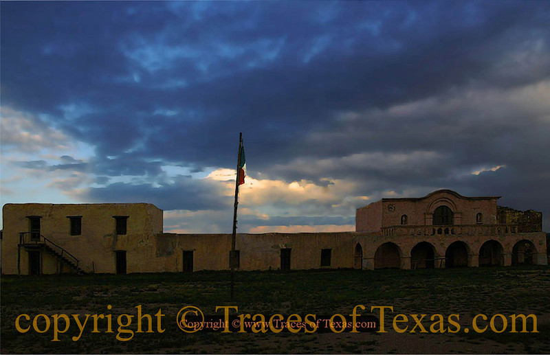 """Title:   Alamo Compound at the Crack of Dawn<br /> <br /> Comments:  Sadly, with the recent passing of Texas ranching icon Virginia Shahan, the Alamo Village will no longer be open to the public. I was lucky enough to spend a couple of days out there before it closed. This is where John Wayne filmed """"The Alamo."""" It was also featured in """"Lonesome Dove"""" and many others. <br /> <br /> Location: Brackettville, Texas"""