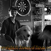 Title: Bar Dog<br /> <br /> Comments: Every self-respecting bar in Texas has a bar dog, and every self-respecting bar dog has his own stool. <br /> <br /> Location: Port Aransas, Texas