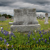 Title: She Always Said She'd See Him When the Bluebonnets Bloom<br /> <br /> Comments: Bluebonnets, harbingers of spring and eternal promise, blooming among the old tombstones in an old German cemetery. <br /> <br /> Location: Warrenton