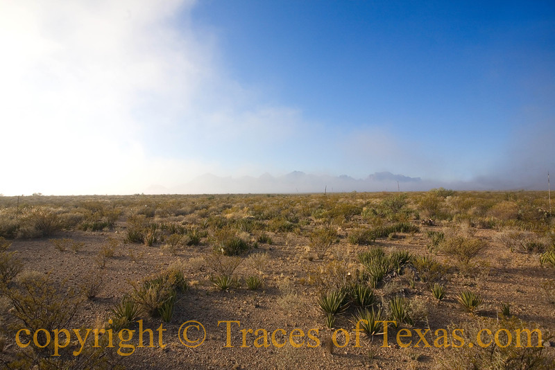 Title:   Drifting<br /> <br /> Comments: And the cloud is drifting, drifting, drifting<br /> across the face of the desert, a lover,<br /> vaguely remembering another parched century <br /> when Spanish horses were the wave of the future ...<br /> <br /> Location: Big Bend