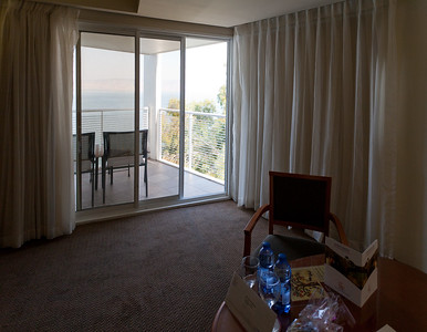 Balcony overlooking the Sea of Galilee from Hotel Rimonim Galei Kinnereth, Tiberias