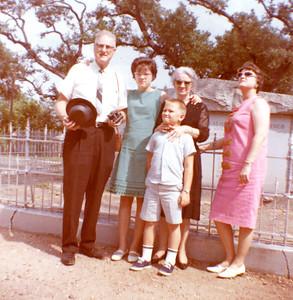 Trip to Houston, Galveston Aug. 1966 L-R Henry Horn Christy Matson Vivian Horn Blanche H. Matson Mark DeCal Matson