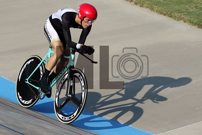 Justin Bird of Lindenwood University races at the USA Cycling Collegiate Track National Championships at Giordana Velodrome in Rock Hill, S.C., on Friday, Sept. 13, 2019.