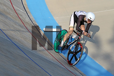Jonah Meadvancort of Lindenwood University races at the  USA Cycling Collegiate Track National Championships at Giordana Velodrome in Rock Hill, S.C., on Friday, Sept. 13, 2019.