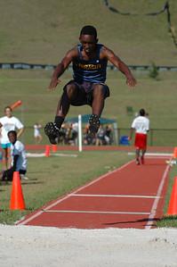 Impressive effort in the Boys' Long Jump.