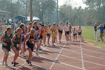 Girls' 1600m is underway.