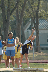 "We move over to the infield again for some Girls' shot put action. Sneads is up. Former Marianna HS star runner Cedrick Gillette, now a MS teacher at Sneads, has ""paid forward"" his gift to a very enthusiastic group of kids. Until I hear a better story, Cedric and his kids are my area T&F Story of the Year."