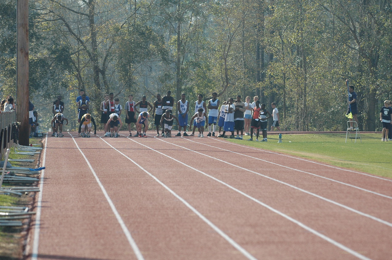 Back over to the track for some Boys' 100m action. They're just rising out of the blocks.