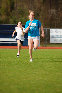 Olivia and Merina, two of our young warriors, having a blast getting in post-2M loop striders. In the 1600m the next day at the Godby/Forbes Invite, they cut it loose. Olivia 6:09.25, Merina 6:21.68.