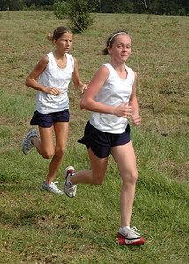 Olivia and Brooke in action, 800m into the second HCES XC Meet, 28 September:  http://tallahasseetrails.smugmug.com/gallery/1943859
