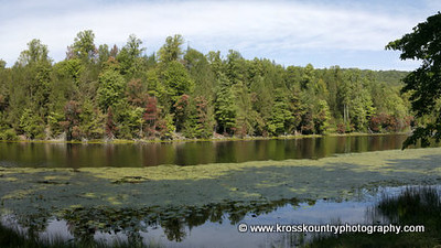 A little panorama of Bays Mountain lake I put together during a lull in the action.