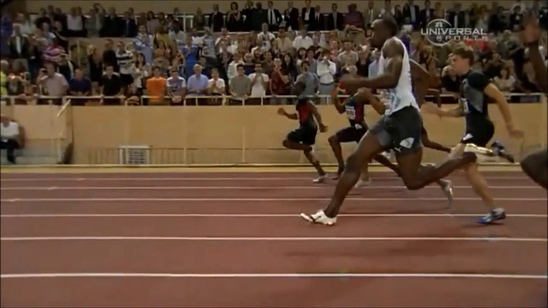 100m USAIN BOLT SLOW MOTION ART OF SPRINTING FASTEST MAN
