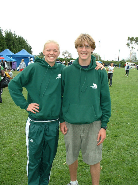 Jamie Klages Current high jump record holder at 5' 10.25 inches and Adam Munns who high jumped 6' 7 inches