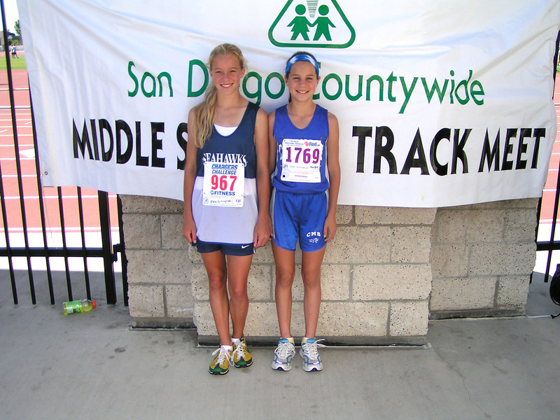 Sallie Privett (right) and Erin Gillingham (Torry Pines eventually) in middle school