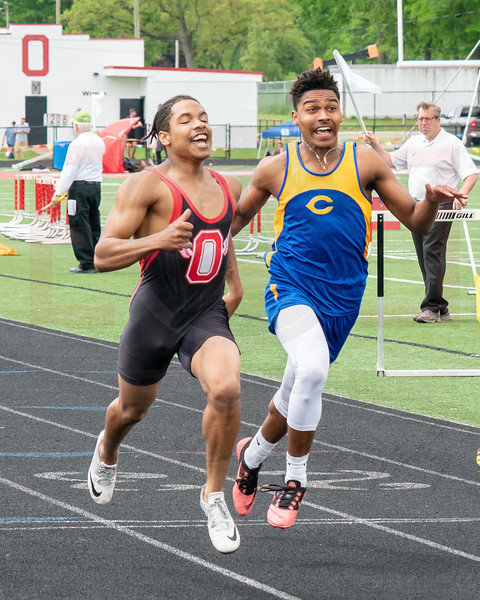 Clearview Sam Daniels celebrates after qualifying for next weeks regionals Saturday May 19.  photo Joe Colon