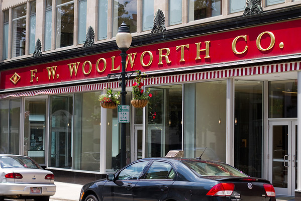 """Woolworth's in Greensboro. Site of the nation's first major """"Sit In"""" during 1960, led to the integration of lunch counters during the Civil Rights movement. Now home to the Civil Rights Museum."""