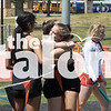 Track competes in the district meet at Porcupine Stadium in Springtown, Texas, on April 4, 2019. (Lauren Metcalf / The Talon News)