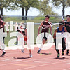Track competes in the district meet at Porcupine Stadium in Springtown, Texas, on March 3, 2014. (Jordyn Tarrant / The Talon News)
