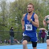 Leominster High School senior Nick Malm competes in oneof the heats of the 1 miles at the meet held at Lunenburg Middle High School on Saturday afternoon. SENTINEL & ENTERPRISE/JOHN LOVE
