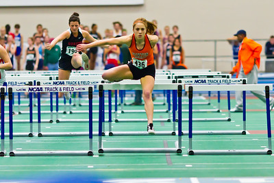 Kayla hits PR in 55m hurdles.