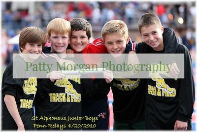 St A's Junior Boys Penn Relays Team 2010