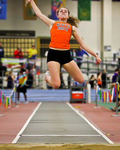 Kayla Prior (pictured) combined with Kayla Wong and Carla Forbes to break the meet record in the 3xLJ relay at the MSTCA Division 1 State Relays on January 21st.
