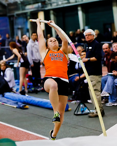 "Steph Brown on her way to a personal best 11'6"" vault at the Dartmouth Relays."