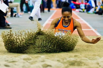 "Carla Forbes lands a USA #1 19'4"" early season jump at the Dartmouth Relays."