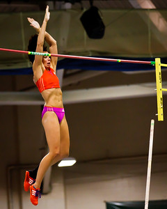 Jenn Suhr clears a new American Record 16 feet at the New Balance Indoor Grand Prix at the Reggie Lewis Center in Boston February 4th.