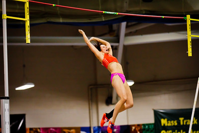 Jenn Suhr celebrates a new American Record 16 feet at the New Balance Indoor Grand Prix at the Reggie Lewis Center in Boston February 4th.