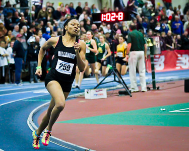Precious Holmes winning the  600m at 2012 New England State Championships in Boston on March 2nd.