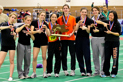 Newton North seniors after winning 2012 Indoor D1 State Open