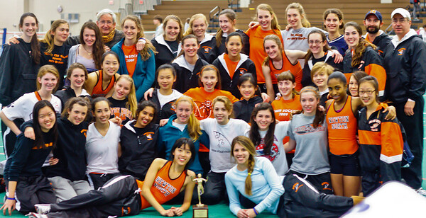 Newton North Girls win 2011 D1 Indoor State Relays
