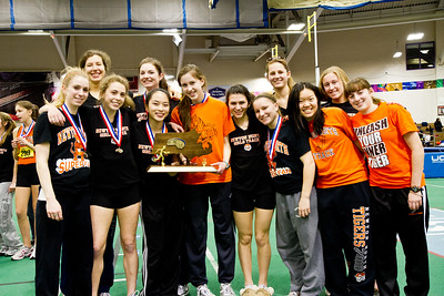 Newton North seniors after winning 2012 Indoor D1 State Championships