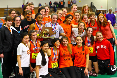 Newton North Girls win 2011 D1 Indoor State Championships