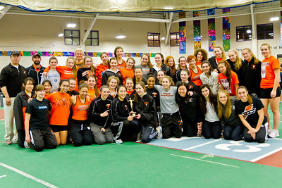 Newton North Girls win 2012 Indoor D1 State Relays