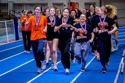 Newton North victory lap after winning 2012 Indoor D1 State Championships