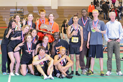 Newton North seniors after after winning 2012 Indoor D1 State Open