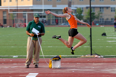 Kayla Prior jumps to 2nd place at the 2012 Bay State Conference Championships