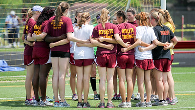 Weymouth seniors gather before the 2012 D1 Outdoor State Championship